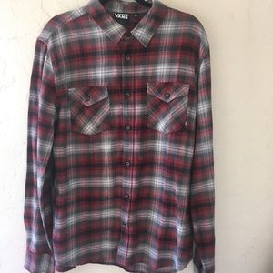 Vans flannel button up shirt